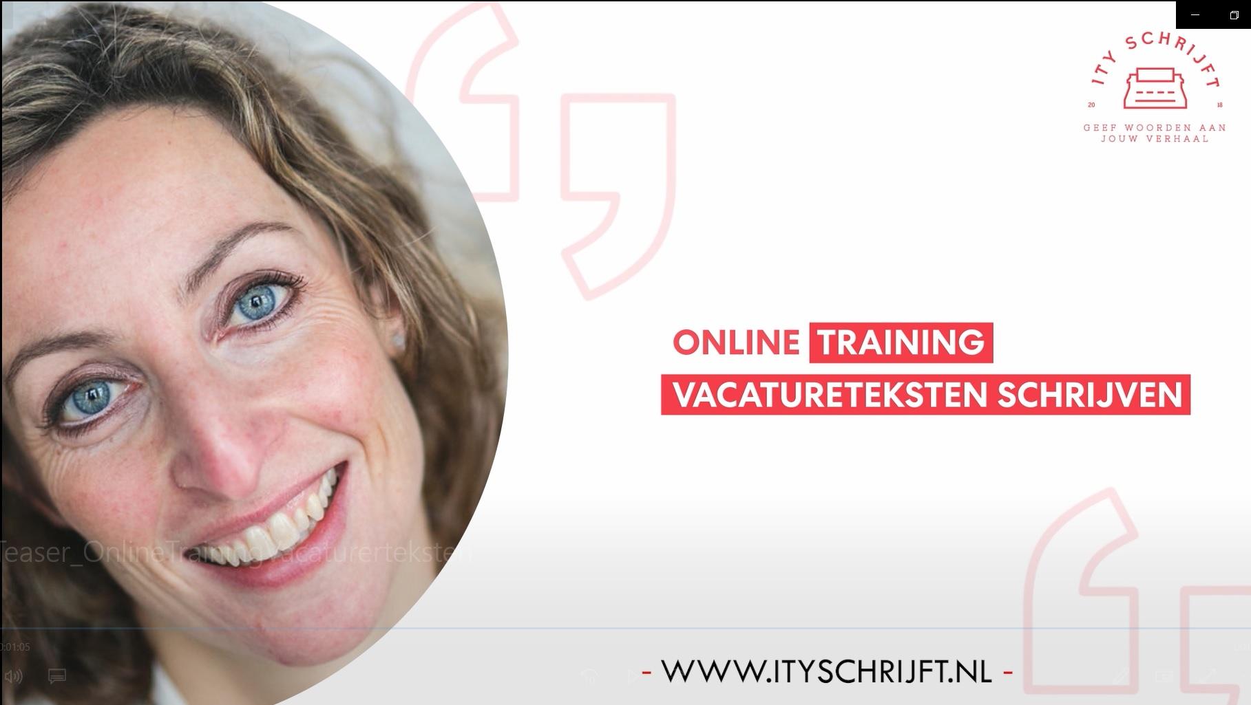 Ity Schrijft: Online training